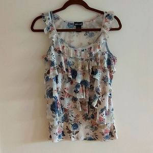 Wetseal - tiered floral tank top - sz. M